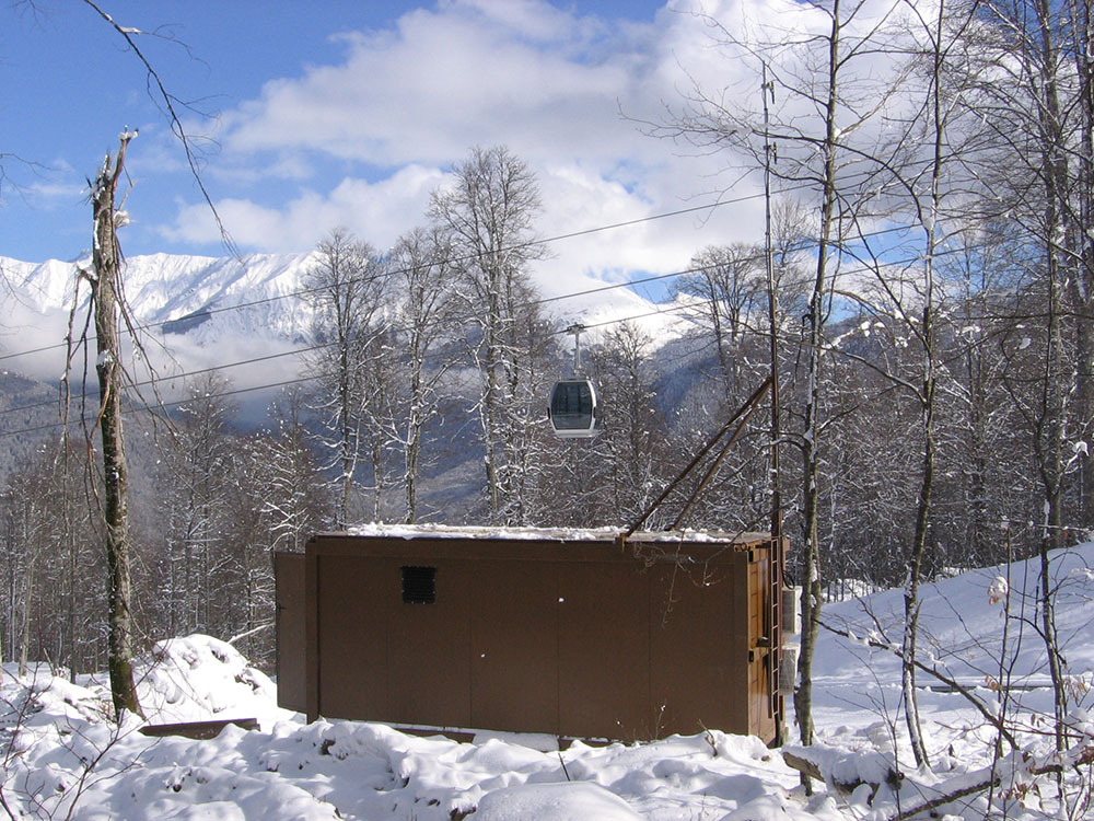 Insulated container protects the TETRA system in extreme conditions in Rosa Khutor