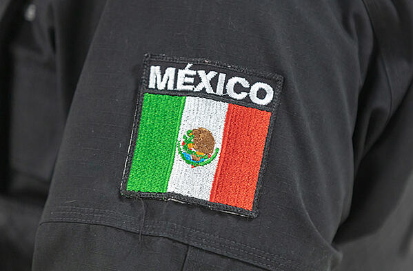 A police badge in Querétaro Mexico