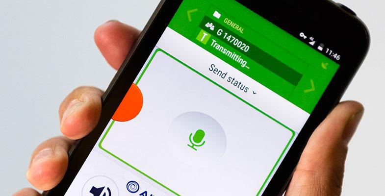 Tactilon Agnet app on a smartphone