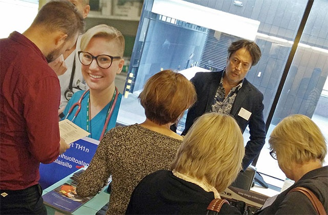 Airbus stand at the special seminar organised for the Helsinki Uusimaa hospital district