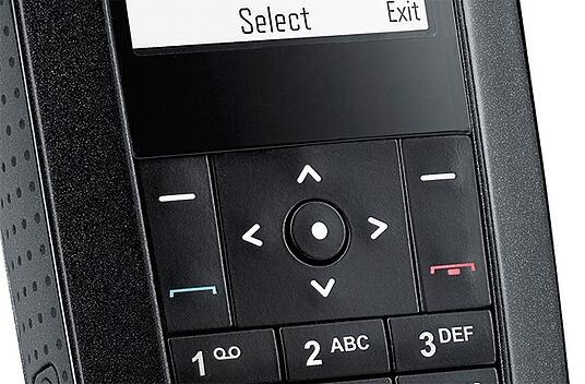 Arrow keys on Airbus TH1n TETRA radio