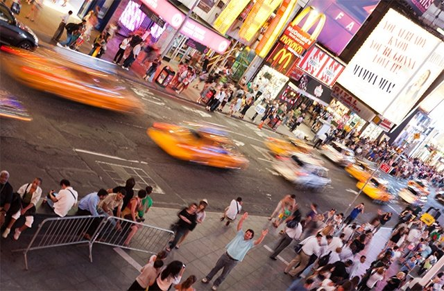 Traffic on Times Square, New York