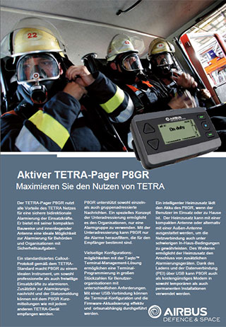 Aktiver TETRA-Pager P8GR