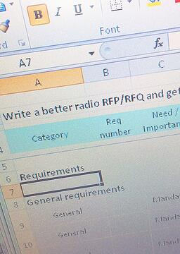 Spreadsheet template: Start writing your TETRA radio RFQ/RFP like a pro