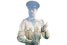 Dubai police officer with Tactilon Dabat
