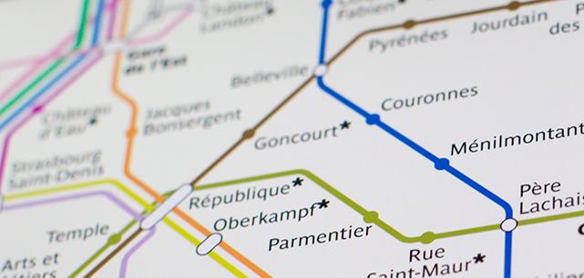 RATP metro map