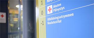 A Finnish hospital entrance
