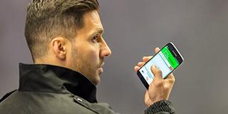 Security officer uses Tactilon Agnet app