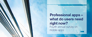 Professional mobile apps survey report 2019 cover page