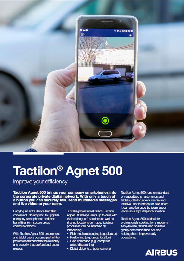 Tactilon Agnet 500 Datenblatt