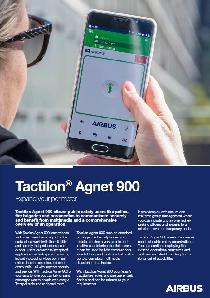 Tactilon Agnet 900 Datenblatt